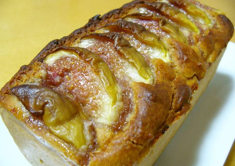 Steps to Prepare Super Quick Homemade Gluten-free rice flour fig cake with cinnamon flavour