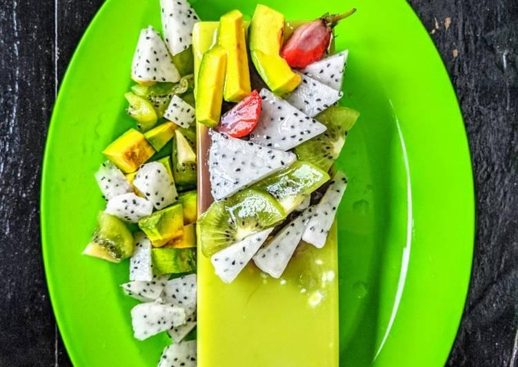 resep cara mengolah Pudding choco alpukat
