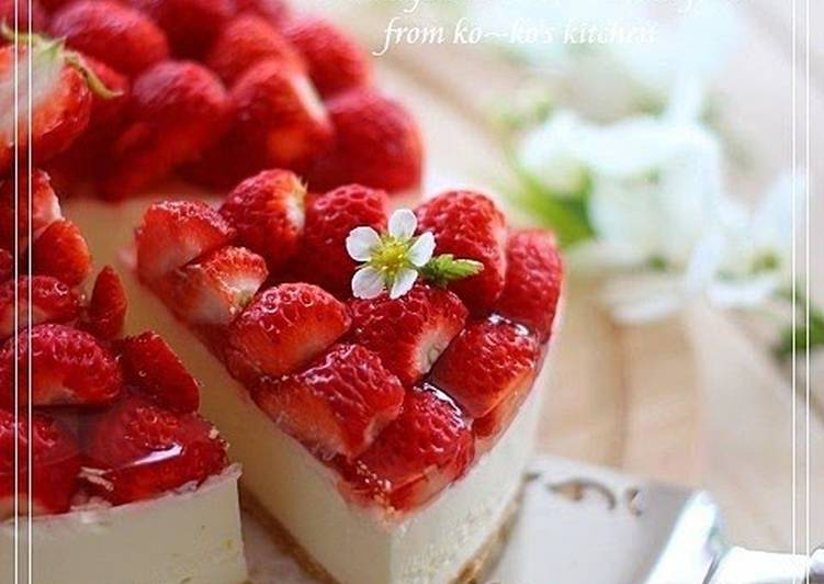 How to Prepare Any-night-of-the-week Authentic No-Bake Cheesecake With Strawberries
