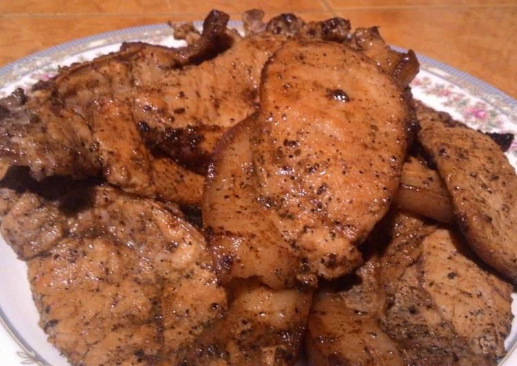 Juicy Pan Fried Porkchops