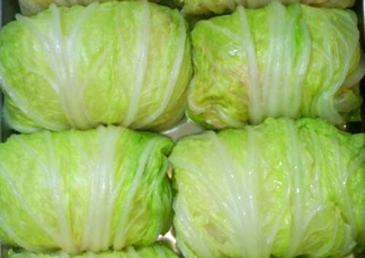 Simple Way to Prepare Favorite Healthy Chinese Cabbage Rolls with Tofu