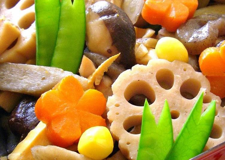 Grandmother's Dinner Easy Vegan Truly Delicious!  New Year's Osechi - Chicken with Vegetables