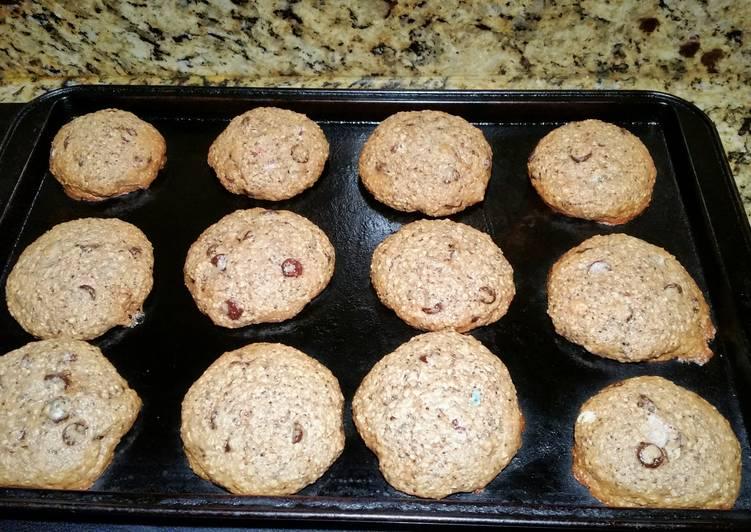 Healthy Dark Chocolate Oatmeal Cookies