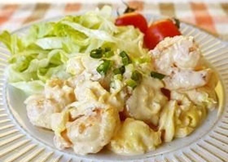 How to Prepare Tasty Easy Shrimp with Mayonnaise Sauce (and Fluffy Eggs)