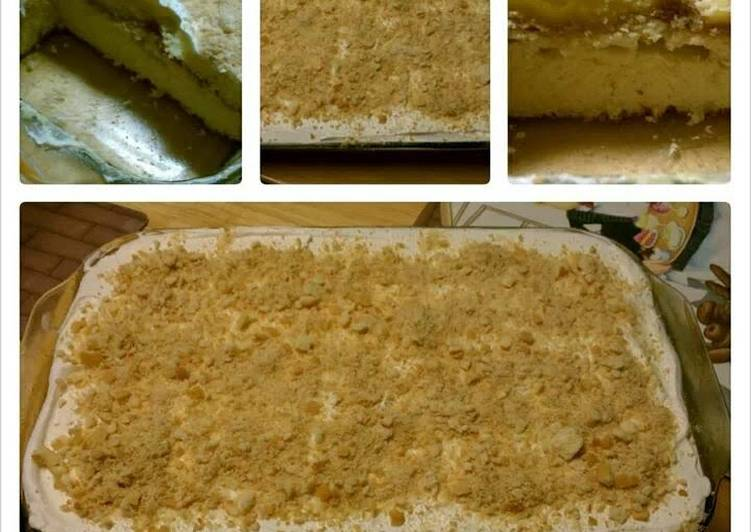 Recipe: Yummy Banana pudding poke cake