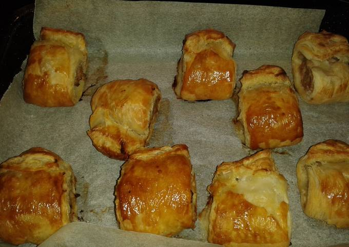 New years eve Sausage Rolls