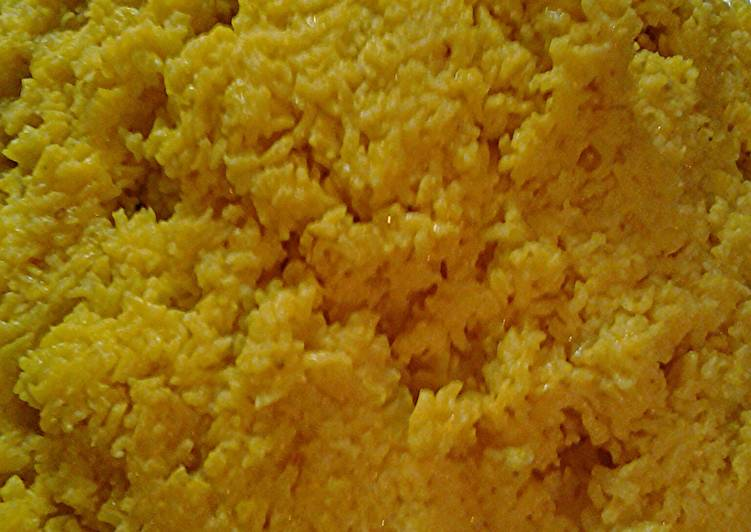 Recipe of Ultimate Turmeric sofrito rice for forty