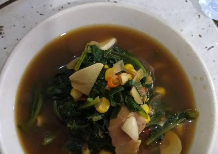 Resep Oseng kuah sawi diet (no minyak&gula)