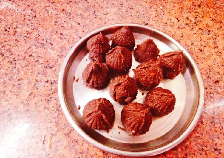 Oreo Modak [ instant Modak added flavor of dairy Milk chocolate]