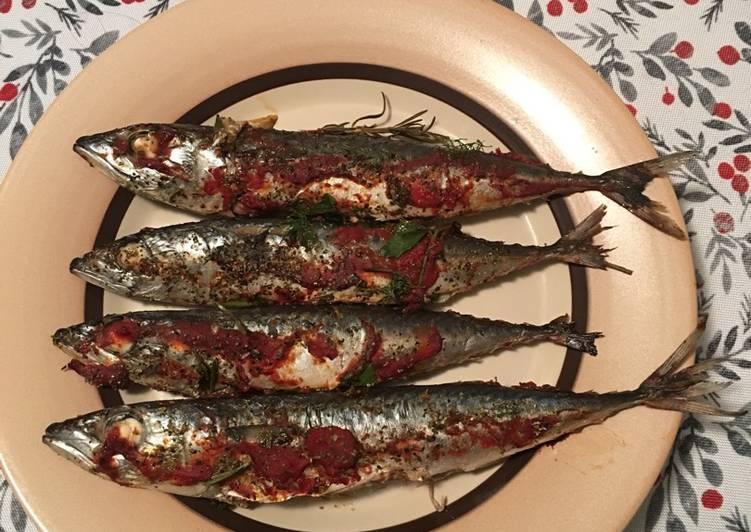 Recipe of Perfect Mackerel roasted in tomato sauce