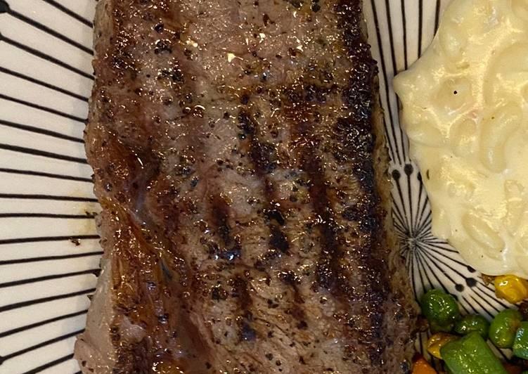 Juicy Medium Well Ribeye Steak