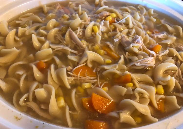 Easiest Way to Cook Yummy Chicken noodle soup