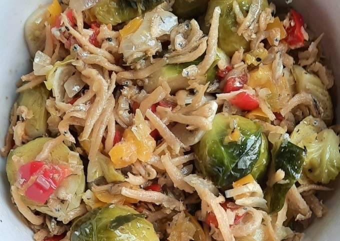 61. Teri & Brussels Sprouts Sambal Matah