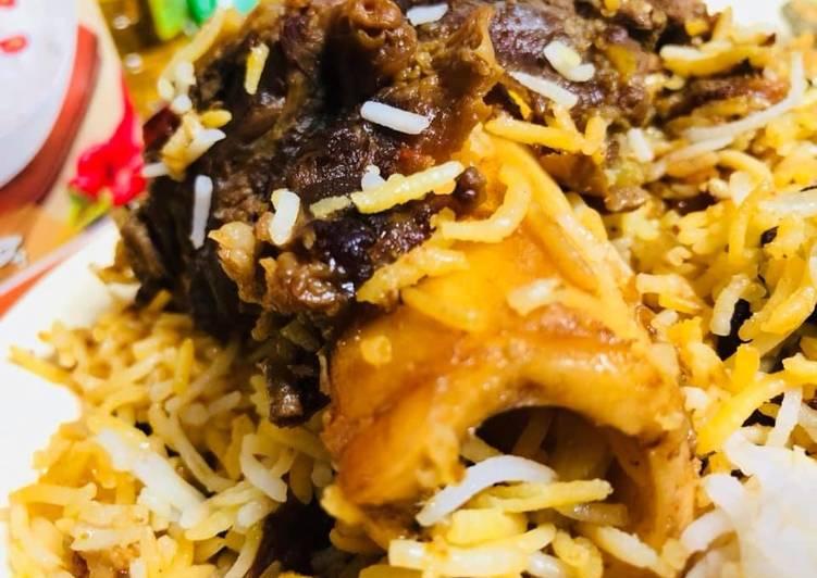Recipe of Homemade Nalli beff biryani #CookpadApp