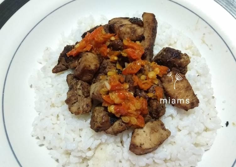 Sate ayam sambal korek - cookandrecipe.com