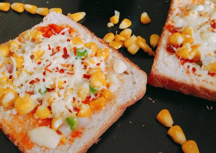 Chilli corn cheese toast