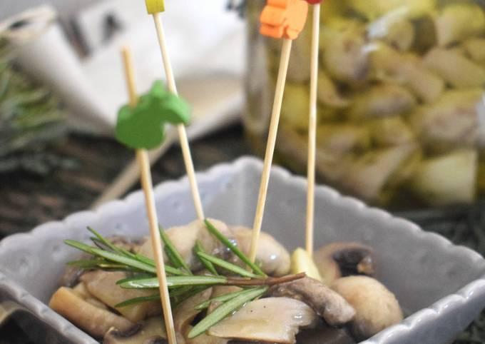 Champignons de Paris à l'huile d'olive