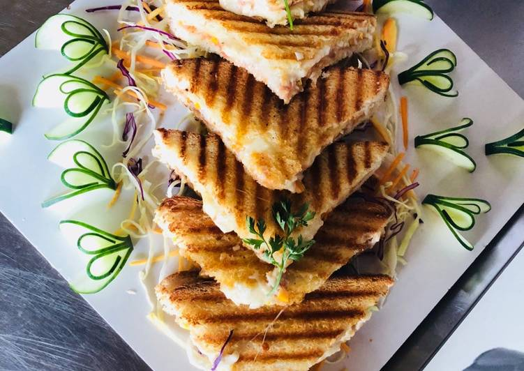 Simple Way to Prepare Super Quick Homemade Grilled sandwich