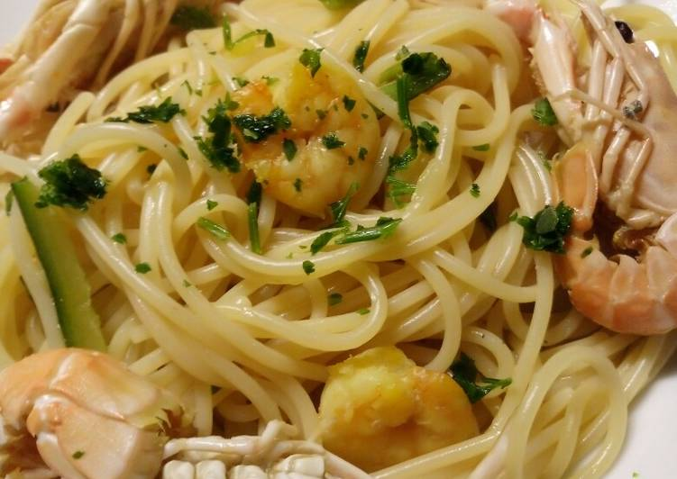 New Secret Langostine and prawn spaghetti Free Download