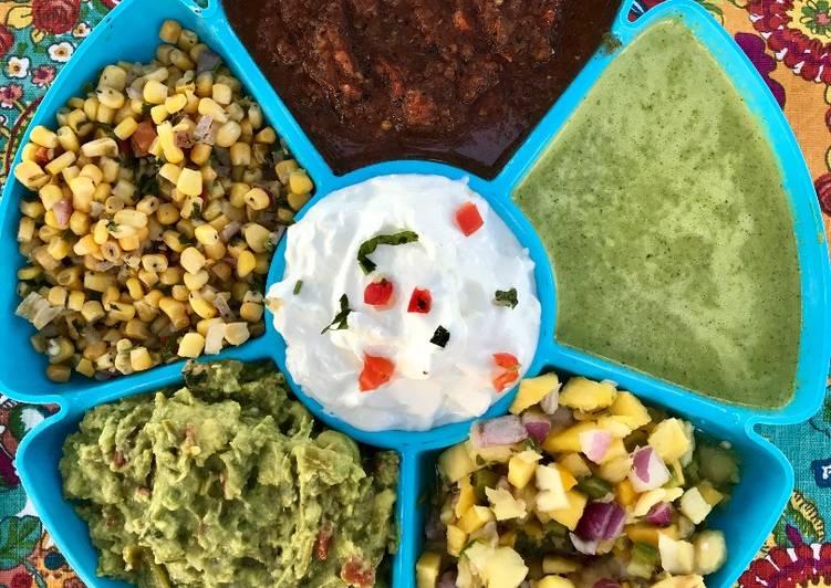 Recipe: Tasty Fresh Made Multi Dip/Salsa Tray
