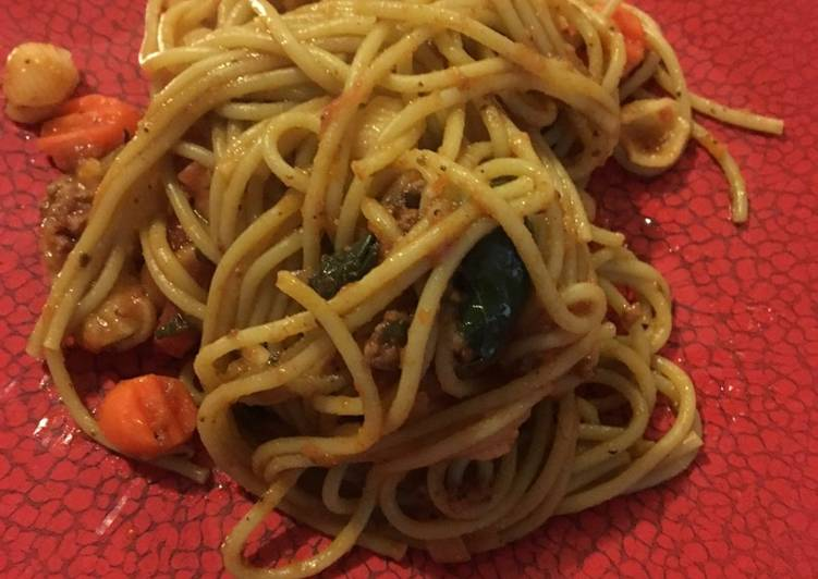 Steps to Make Perfect Candy's Spaghetti
