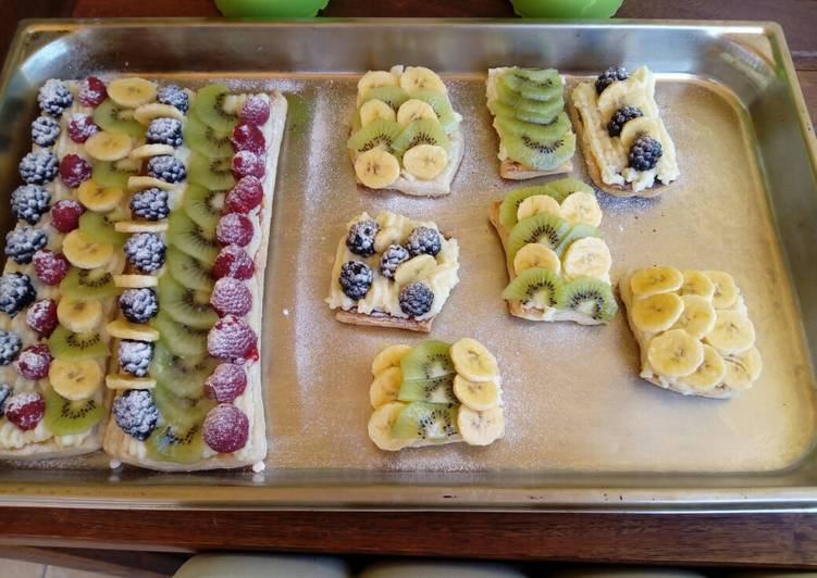 Hojaldres con frutas