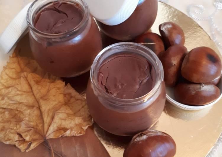 Dessert automnal cacao châtaigne