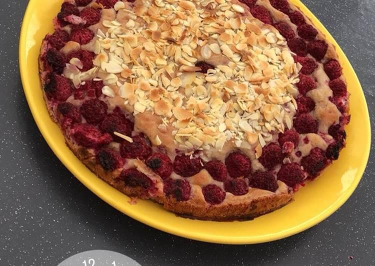 Recette Délicieux Gâteau au yaourt framboise