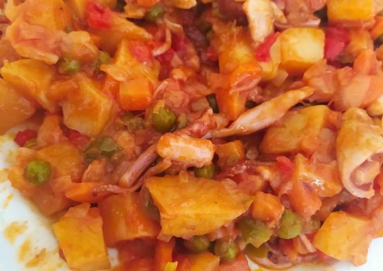 Potas con verduras y patatas