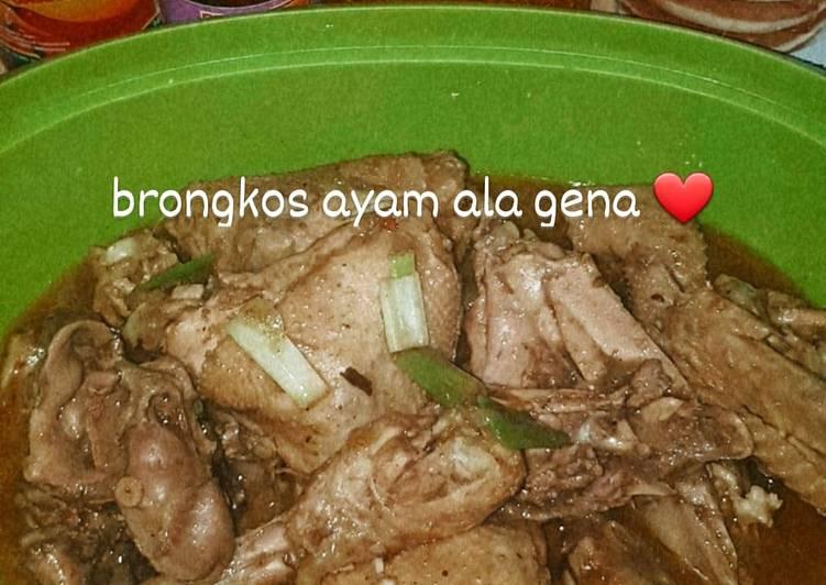 Resep Brongkos ayam simple dijamin mantul yang Enak