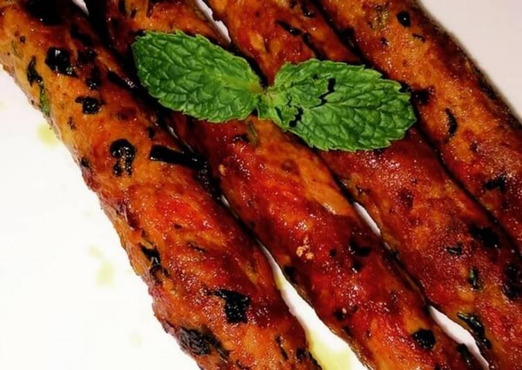 Recipe of Favorite Chicken Seekh Kabab - Pan-fried