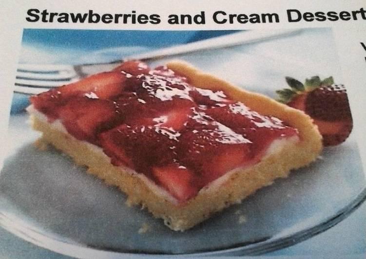 Strawberries & Cream Dessert Squares