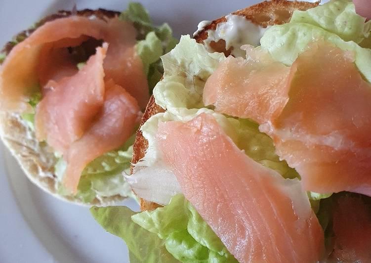 Muffin saumon/salade
