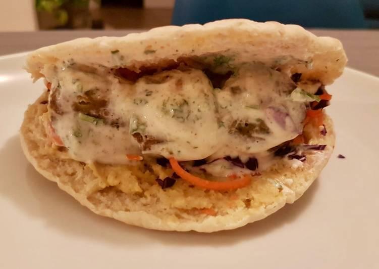 Sandwich pita aux falafels (version hiver)