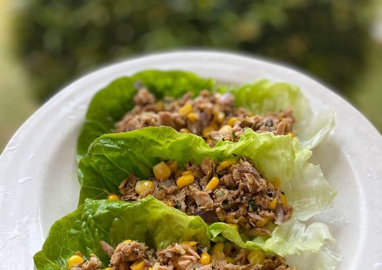 Tuna Salad Lettuce Cups