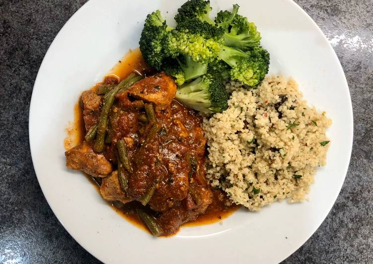 Recipe of Perfect Moroccan spiced Chicken with Sumac and Date Couscous