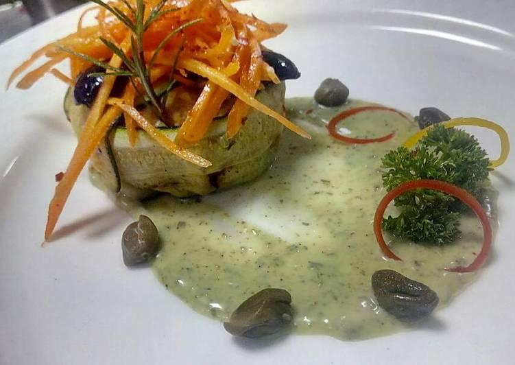 Grilled zucchini & caper's patties