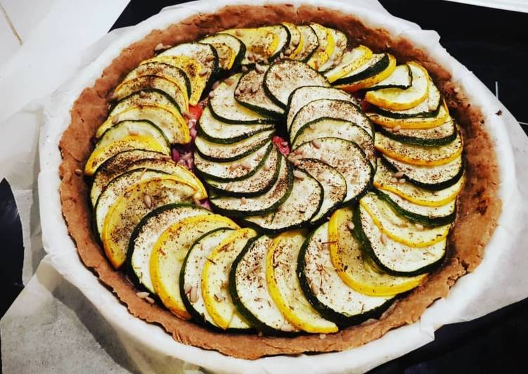 Tarte courgette et moutarde