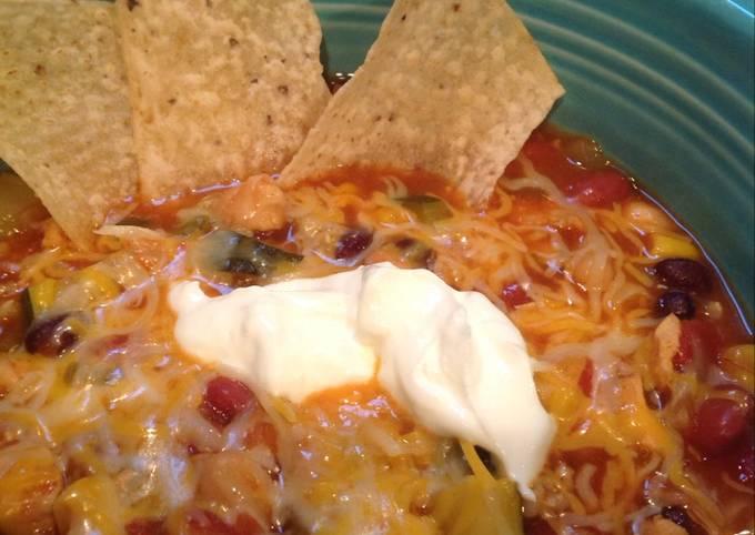 Tex-Mex Chicken and Three Bean Soup