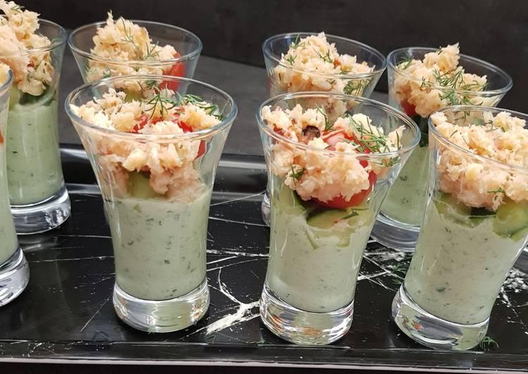 Recette: Délicieux Salade de crabe à la crème de concombre