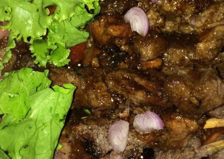Sate kambing salsa
