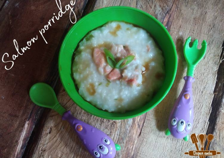 Salmon porridge (bubur salmon)