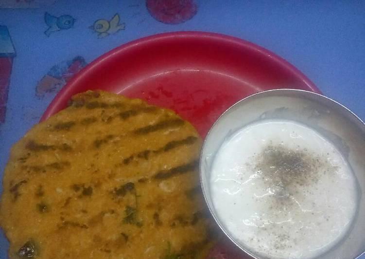 Recipe of Ultimate Mooli wali makki ki roti