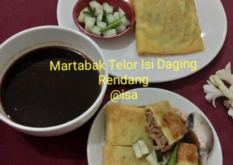 #99 Martabak Telor Isi Daging Rendang