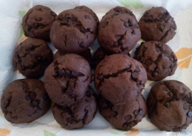 Ricetta Biscotti al cioccolato morbidi 🍪