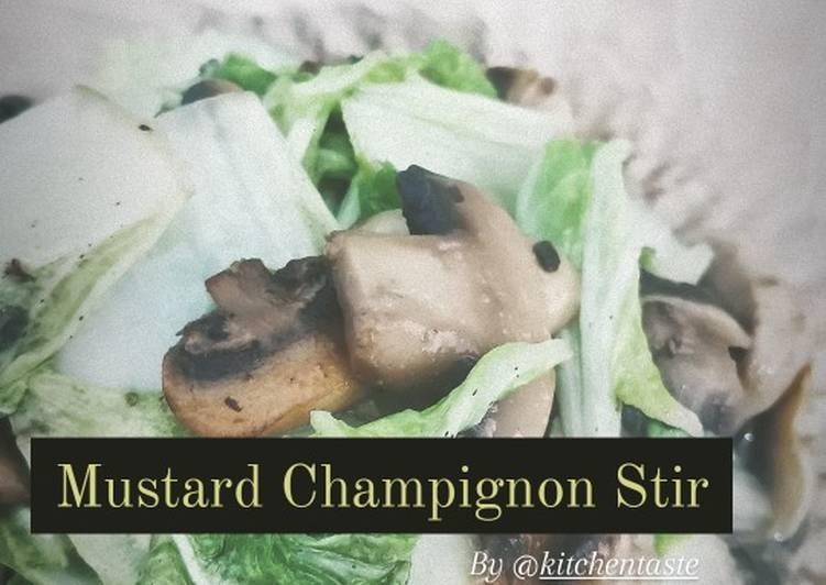 Mustard Champignon Stir (Tumis Sawi Jamur) ala Kitchentaste