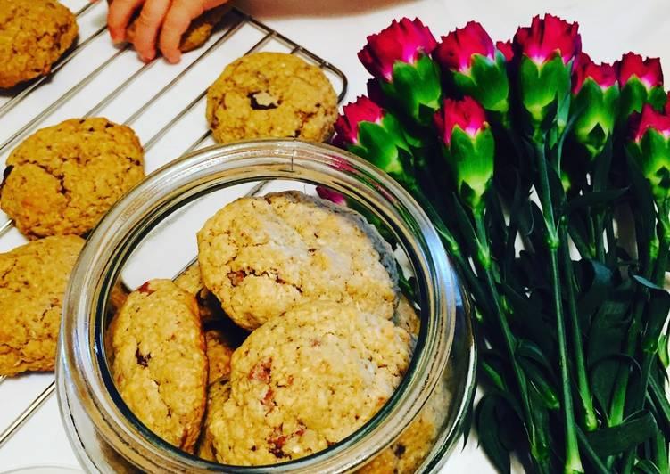 Coconut Oatmeal & Dark Chocolate Cookies 🥥🍫🍪
