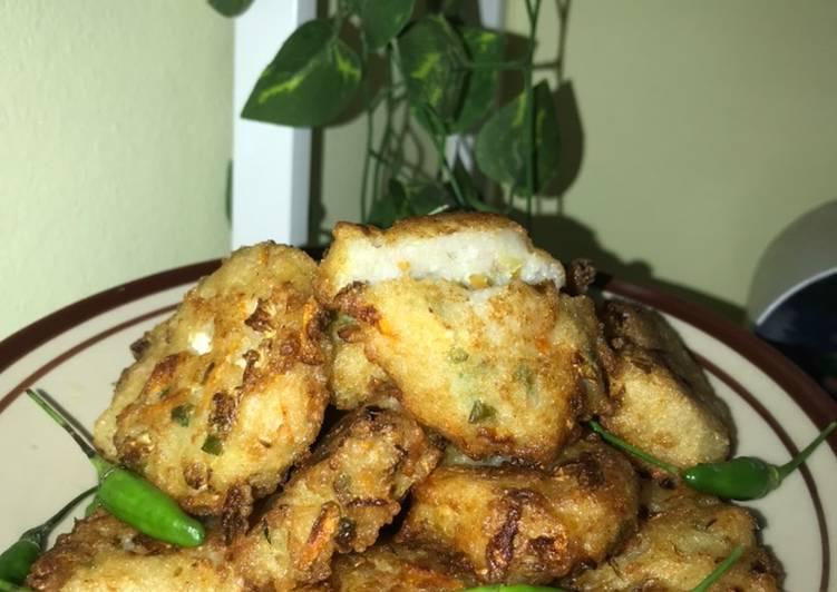 Bakwan nasi (crispy diluar lembut didalam) 🤓