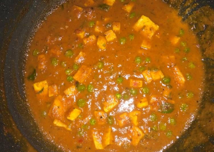 Recipe of Perfect Panner mutter masala