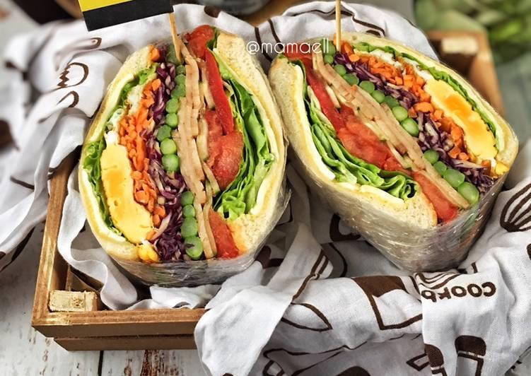 Cara Mudah Masak: Wanpaku Sandwich mamaell : Asparagus chicken meatloaf & cheese  Lazat